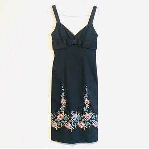 NWT Betsey Johnson Embroidered Dress